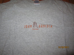 Chicago John Hancock Building Logo Grey T Shirt Small