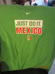 "Mexico Football ""Just Do It"" Green T Shirt Large Nike"