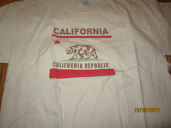 California Republic Logo Cream T Shirt XL