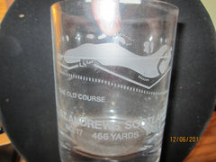St Andrews The Old Course No. 17 Etched Glass Golf Scotland