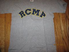 RCMP Logo Grey T Shirt Small Royal Canadian Mounted Police