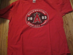 Anaheim Angels 2003 Logo 3 Million Fans SGA T Shirt XL