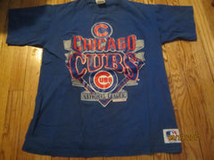 Chicago Cubs Vintage 1990 Logo Blue T Shirt Large