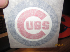 Chicago Cubs Logo 1970's 3 Inch Iron On