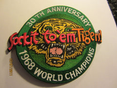 Detroit Tigers 1968 World Champions 30th Anniversary Patch