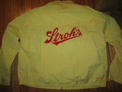 Stroh's Beer Vintage Unlined Zip Up Jacket XL