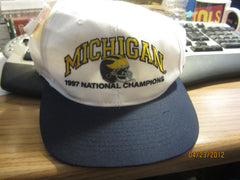 Michigan Wolverines Football 1997 National Champions Vintage Snapback Hat New W/Tag