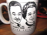 NAACP 1987 Freedom Fund Dinner Coffee Mug Coleman Young Rosa Parks Dertroit