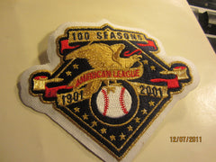 American League 100 Seasons Sleeve Patch 2001