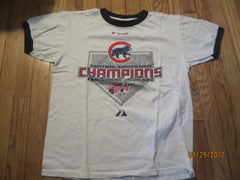 Chicago Cubs 2007 Central Division Champs Ringer T Shirt Medium