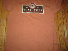 Flat Tops Burgers Logo Ringer T Shirt Medium