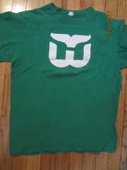 Hartford Whalers Logo Green T Shirt Medium