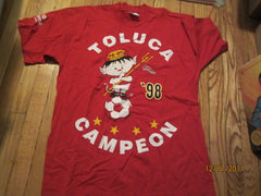 Toluca 1998 Campeones T Shirt Large Mexico Soccer NWOT