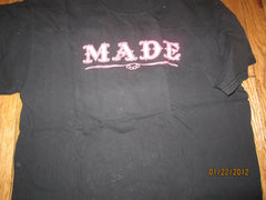 Made Clothing Logo Black T Shirt Large Gangsta!