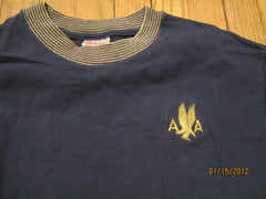 American Airlines Embroidered Logo Fancy Collar T shirt Large
