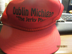 "Dublin Michigan ""The Jerky Place"" Mesh Trucker Red Snapback Hat"