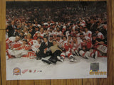 "Detroit Red Wings 2002 Stanley Cup Champions ""The Photo"" 11 x 14 W/Tag"