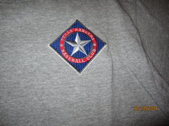 Texas Rangers Embroidered Logo Grey T Shirt Medium