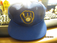 Milwaukee Brewers Old Logo Mesh Snapback Hat Small/Medium By Twins