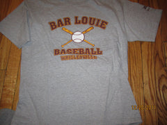 Chicago Cubs Bar Louie Wrigleyville Grey T Shirt Large