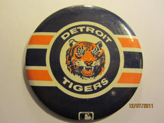 Detroit Tigers Old Logo 3 1/2 Round Pin