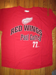 Detroit Red Wings #77 Paul Coffey Vintage T Shirt XL