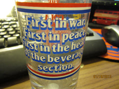 "Like Cola ""First In War...."" 1982 Promo Glass"