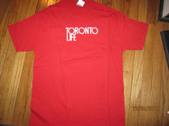Toronto Life Magazine Logo Red T Shirt Large