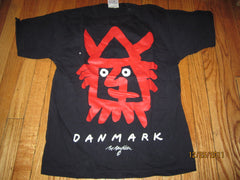 Denmark Large Viking Logo Navy T Shirt Medium