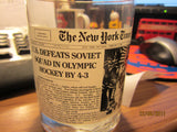 USA Hockey 1980 Beat USSR New York Times Headline Glass