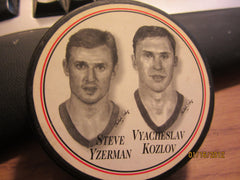 Detroit Red Wings Steve Yzerman V Kozlov Puck Burger King