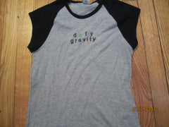 Wicked Defy Gravity Womens Raglan T Shirt Medium