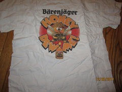 "Barenjager ""Honey Bee"" T Shirt Large Honey Jagermeister"