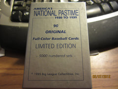 Big League Collectibles America's National Pastime 90 Card Set Mint In Box