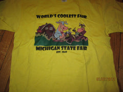 "Michigan State Fair ""World's Coolest Fair T Shirt Large New W/O Tag"