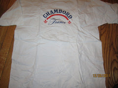 Chambord Liquer Logo France White T Shirt XL New W/O Tag
