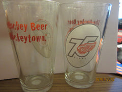 Detroit Red Wings 75th Anniversary Logo Pint Glass