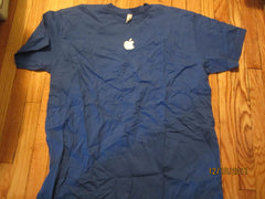 Apple Logo Blue T shirt XXXL American Apparel