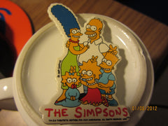 The Simpsons Family Photo Plastic Coated Cardboard Pin