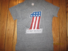 Detroit #1 Old Harley Logo American Apparel T Shirt Kids 4