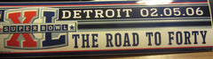 Pittsburgh Steelers Super Bowl 40 Bumper Sticker Detroit