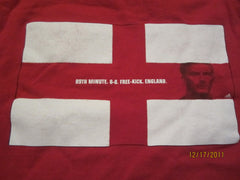 England World Cup David Beckham T Shirt XL Adidas