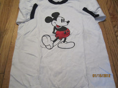 Mickey Mouse Classic Logo Ringer Vintage T Shirt Large 50% 50%