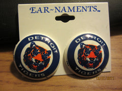 Detroit Tigers Pair Of Old Logo Plastic Earrings New Old Shelf Stock