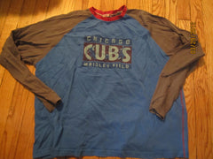 Chicago Cubs Wrigley Field Long Sleeve Raglan Shirt XL Moonlight Graham