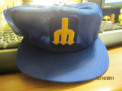 Seattle Mariners Late 80's Logo Mesh Trucker Hat New W/O Tag Annco
