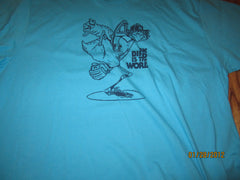 Mark Fidrych The Bird Is The Word Blue T Shirt XXL