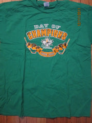 Windsor Junior Spitfires Day Of Champions 2008/2009 Green T Shirt XL