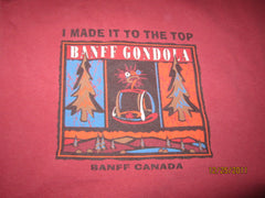 "Banff Gondola ""I Made It To The Top"" T Shirt XL Canada"