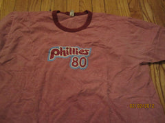 Philadelphia Phillies 1980 Throwback Logo Ringer T Shirt XXL